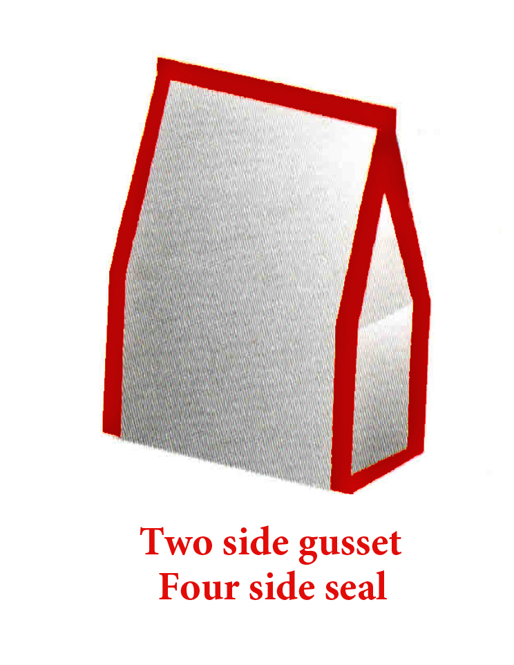 Double gusset pouch